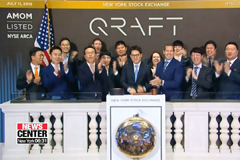 S. Korean tech firm Qraft rings closing bell at NYSE to mark launch of AI-powered ETFs