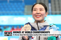 S. Korean diver Kim Su-ji wins bronze at FINA World Championships