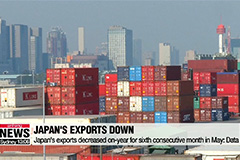Japan's exports fell for the sixth-straight month in May: Data