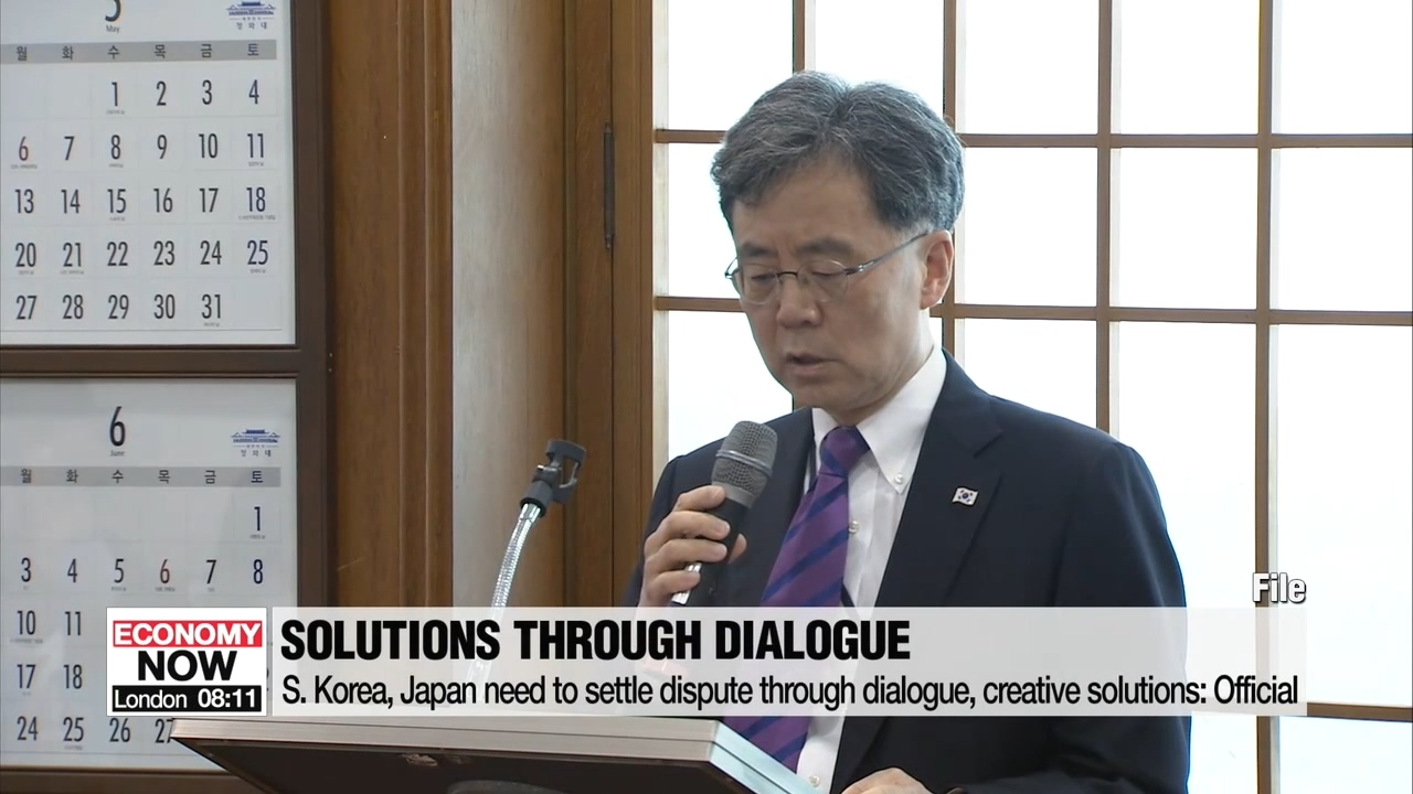 S. Korea, Japan must solve trade dispute through dialogue, creative solutions: official