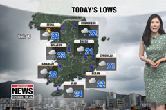 Downpours in southern coastal regions, heat up north