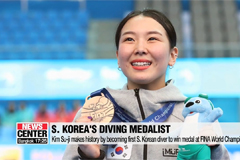Kim Su-ji makes history by becoming first S. Korean diver to win medal at FINA World Championships