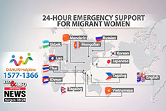 24 hour emergency support available in Korea for migrant women facing domestic violence