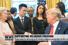 Trump says he will bring up issue of religious persecution to Kim Jong-un