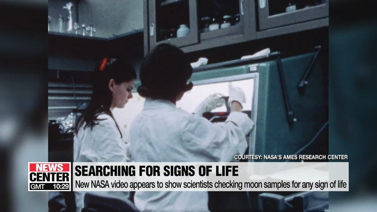 New NASA video appears to show scientists checking moon samples for any sign of life