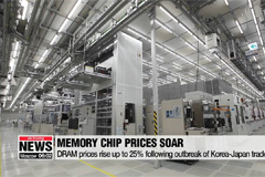 DRAM prices rise up to 25% following outbreak of Korea-Japan trade spat