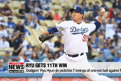 Dodgers' pitcher Ryu Hyun-jin picks up 11th win of season