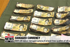 Life & Info: BOK will replace damaged currency if at least three-quarters of bill is intact