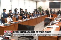 Parliament committee unanimously adopts resolution calling for withdrawal of Japan's export curbs