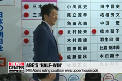 Japan's Abe wins upper house poll but fails to secure 2/3 majority required for constitutional reform