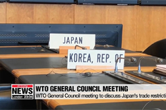 WTO General Council meeting to discuss Japan's trade restrictions