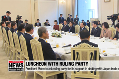 President Moon to ask ruling party for its support in dealing with Japan trade dispute