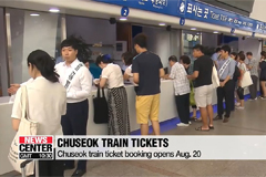 Chuseok train ticket booking opens Aug. 20