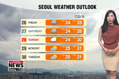 Heavy monsoon downpours to spread over most of Korea