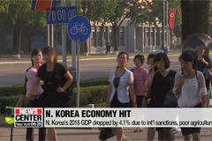 N. Korea's 2018 GDP drops 4.1% due to int'l sanctions, poor agricultural yields