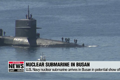 U.S. Navy nuclear submarine in South Korea in a possible show of force