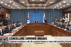 Cabinet members call off summer break to deal with pending issues