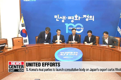 S. Korea's rival parties to launch consultative body on Japan's export curbs Wednesday