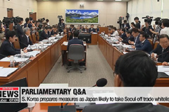 S. Korea's National Assembly holds Q&A session on pending security issues