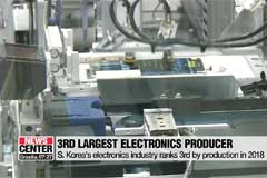 S. Korea's electronics industry ranks 3rd by production in 2018