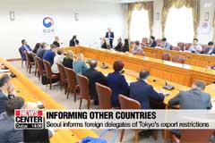Seoul informs foreign delegates on Tokyo's export restrictions