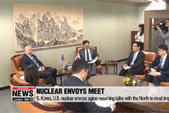 Nuclear envoys of Seoul and Washington agree that resuming talks with the North is most important