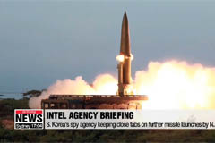 S. Korea's spy agency keeping close tabs on additional missile launches by N. Korea