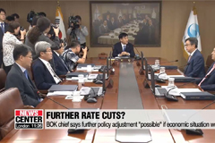 BOK chief says Fed's rate cut 'less accommodative', BOK to respond if economic situation worsens