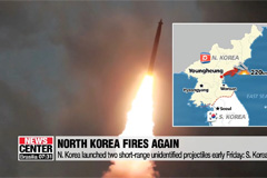 N. Korea launched two short-range unidentified projectiles early Friday: S. Korea's JCS