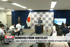Japan decides to remove S. Korea from whitelist of trusted trade partners