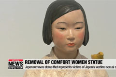 Japan orders removal of 'Comfort Woman' statue from int'l arts festival