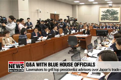 Lawmakers grill top presidential advisors over Japan's trade curbs, other issues