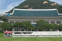 N. Korea's launches are an 'armed protest' against S. Korea-U.S. training: Blue House