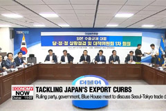 Ruling party, government, Blue House meet to discuss developments regarding Seoul-Tokyo trade dispute