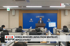 Implications of Korea's removal of Japan from whitelist