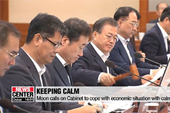 Moon calls on Cabinet to handle economic circumstances with strong determination