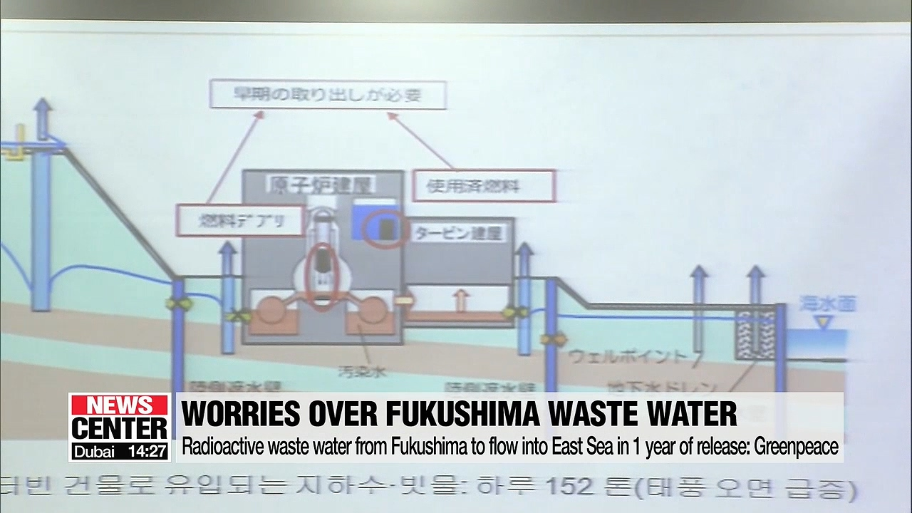 1.1 mil. tons of radioactive water to flow into East Sea in 1 year of Japan's release: Greenpeace