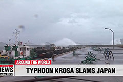 Typhoon Krosa kills one, injures more than 30 in western Japan