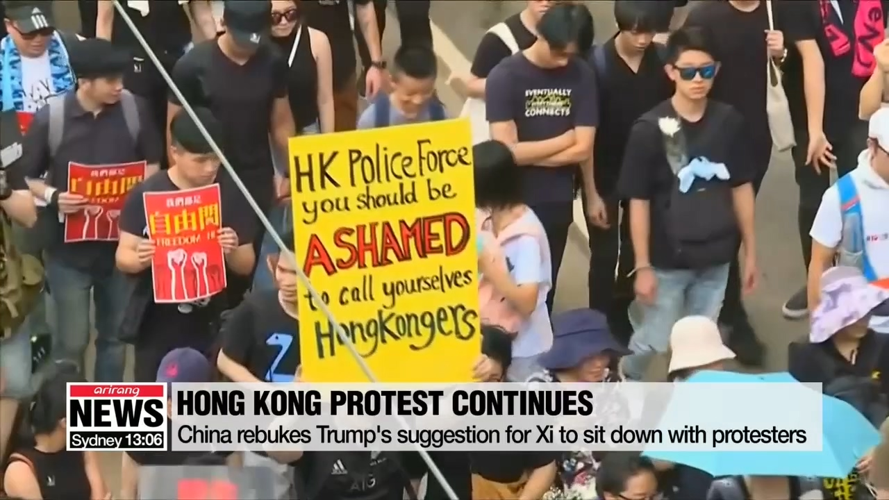 China rebukes Trump's suggestion for Xi to sit down for talks with Hong Kong protesters