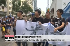 Hong Kong protesters rally despite ban on march