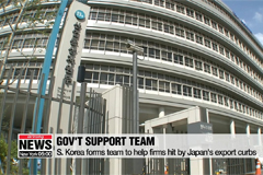 S. Korea forms field support team to aid companies facing trouble due to Japan's export curbs