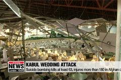 Suicide bombing at Kabul wedding kills at least 63 people