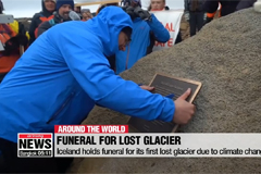 Iceland holds funeral for its