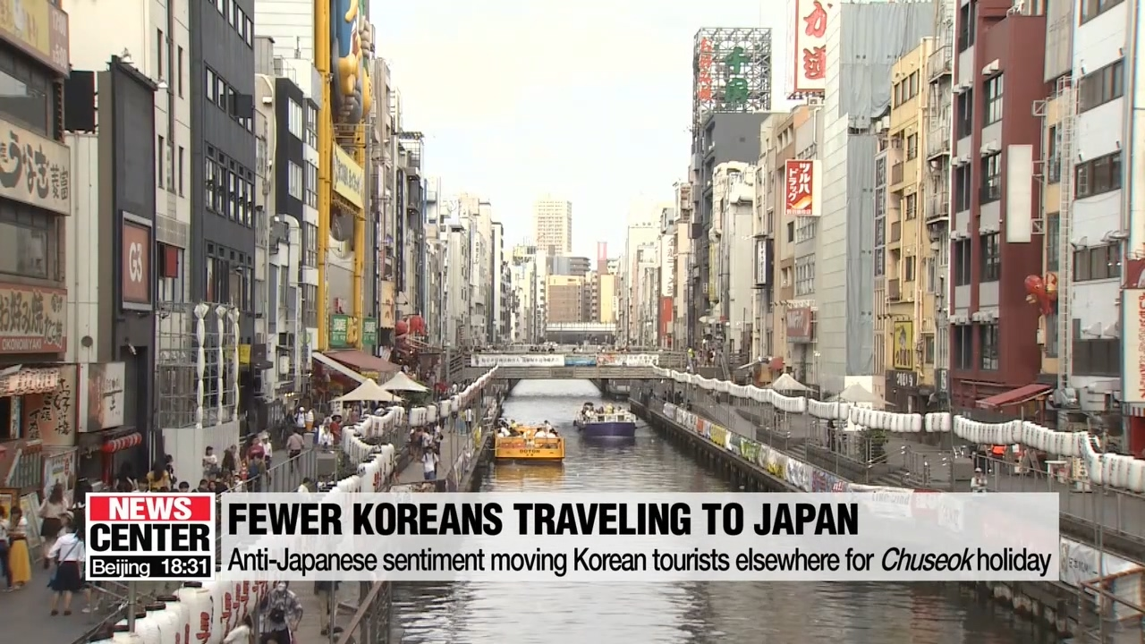 Anti-Japanese sentiment moving Korean tourists elsewhere for Chuseok holiday