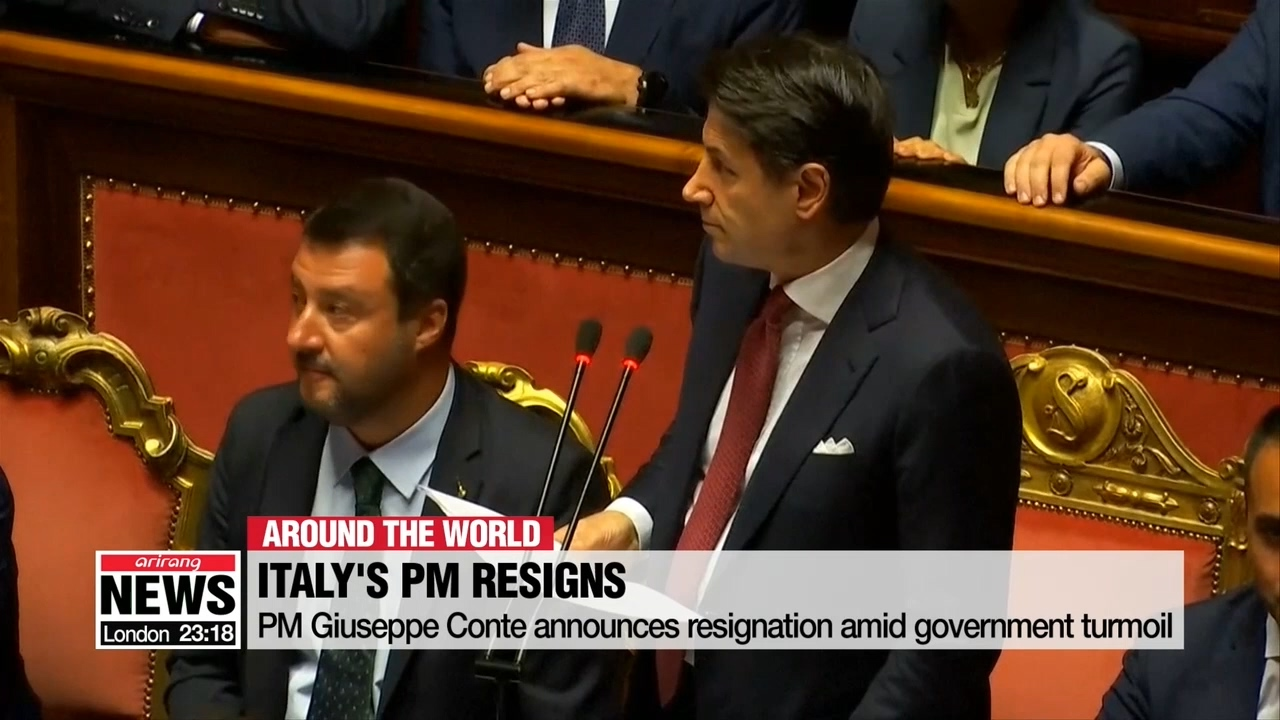 Italy's Prime Minister announces resignation amid government turmoil