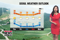 Heavy rain on south into Thursday, heat eases
