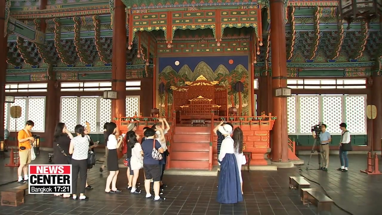 Throne hall of Gyeongbokgung Palace open to public for the first time
