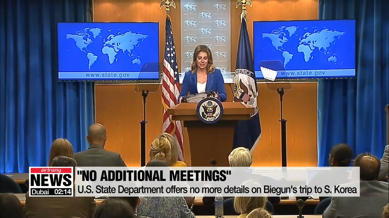 U.S. State Department offers no more details on Biegun's trip to S. Korea