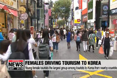 Young female tourists from Asia driving increase in tourists to South Korea