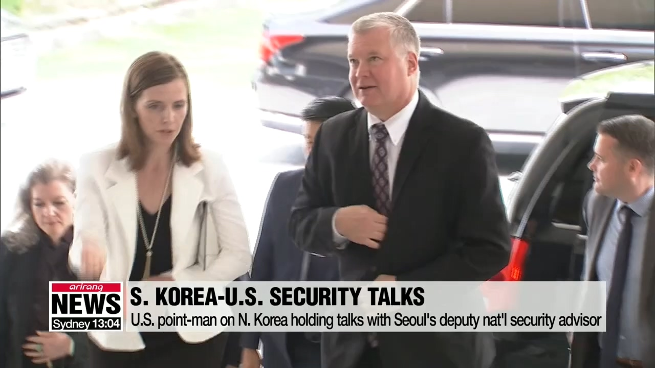 Biegun meets S. Korea's presidential nat'l security advisor to discuss N. Korea negotiations